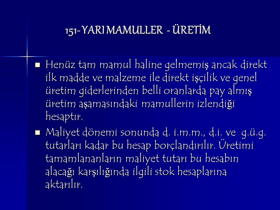 151- YARI MAMULLER - ÜRETİM