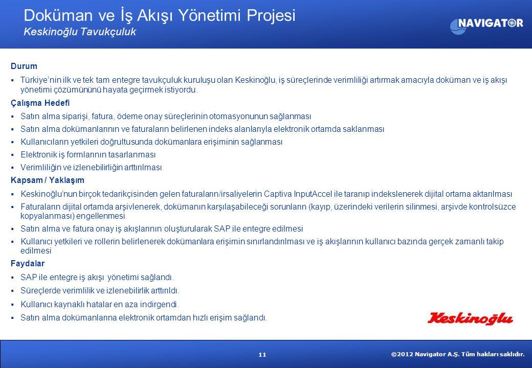 Doküman ve İş Akışı Yönetimi Projesi Keskinoğlu Tavukçuluk