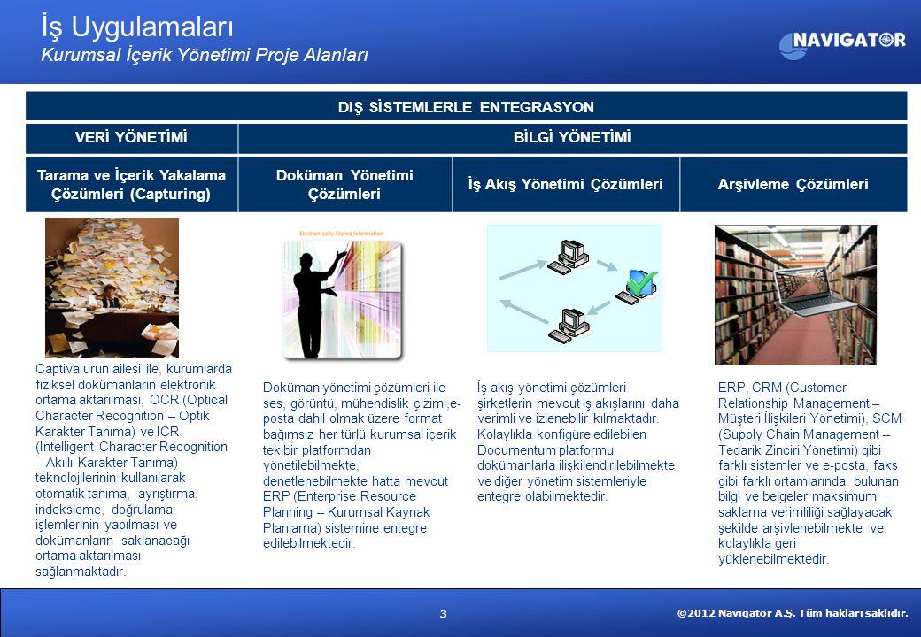 İş Uygulamaları Kurumsal İçerik Yönetimi Proje Alanları