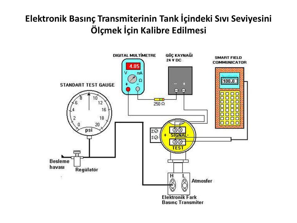 Elektronik Basınç Transmiterinin Tank İçindeki Sıvı Seviyesini Ölçmek İçin Kalibre Edilmesi