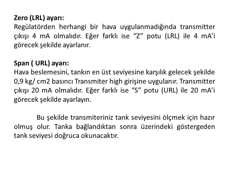 Zero (LRL) ayarı:
