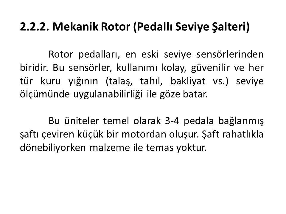 2.2.2. Mekanik Rotor (Pedallı Seviye Şalteri)