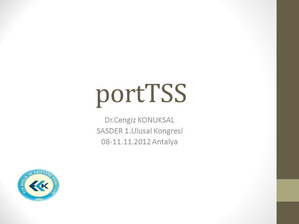 Dr.Cengiz KONUKSAL SASDER 1.Ulusal Kongresi 08-11.11.2012 Antalya