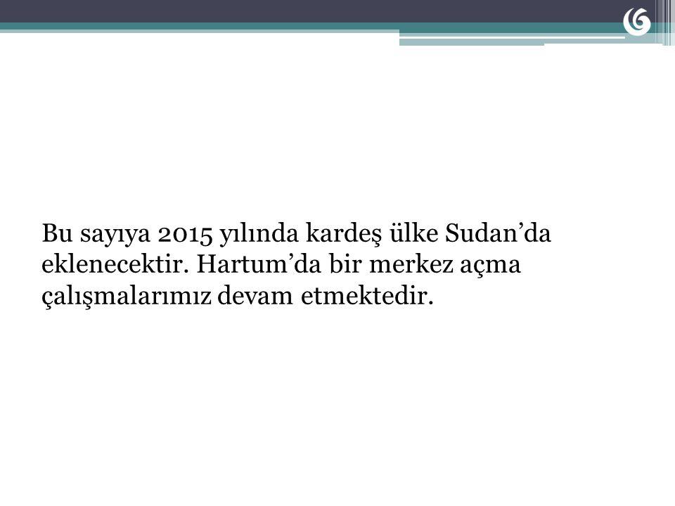 Bu sayıya 2015 yılında kardeş ülke Sudan'da eklenecektir