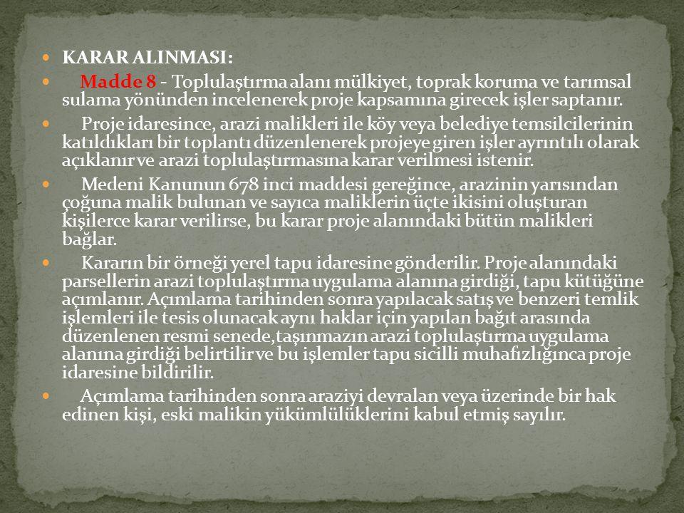 KARAR ALINMASI:
