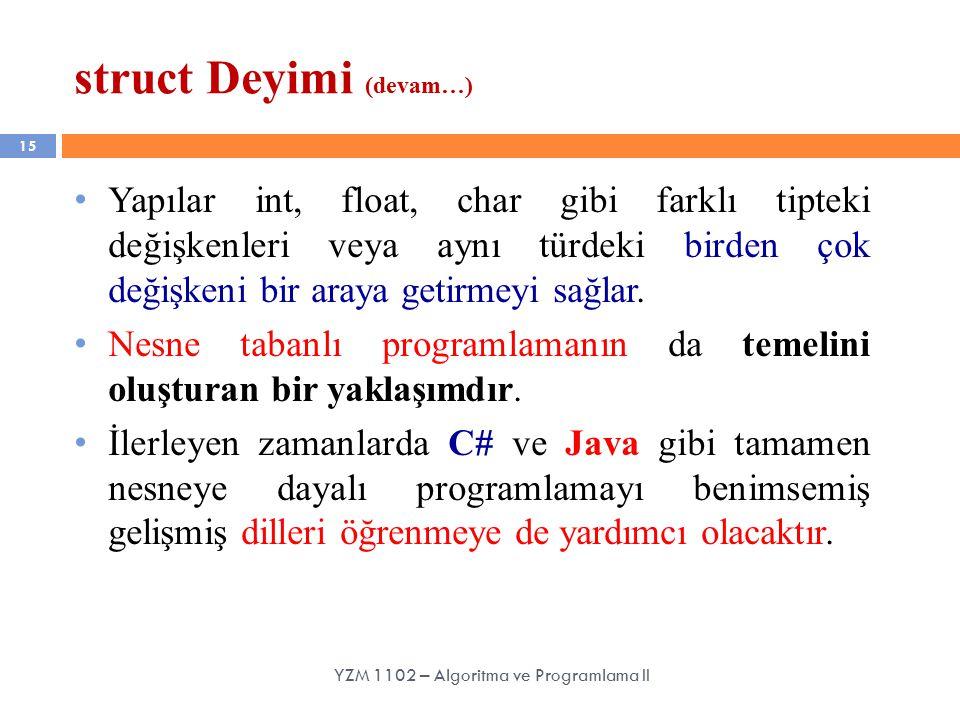 struct Deyimi (devam…)