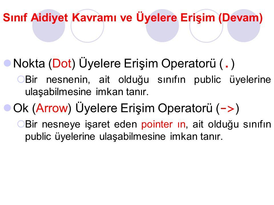 Nokta (Dot) Üyelere Erişim Operatorü (.)