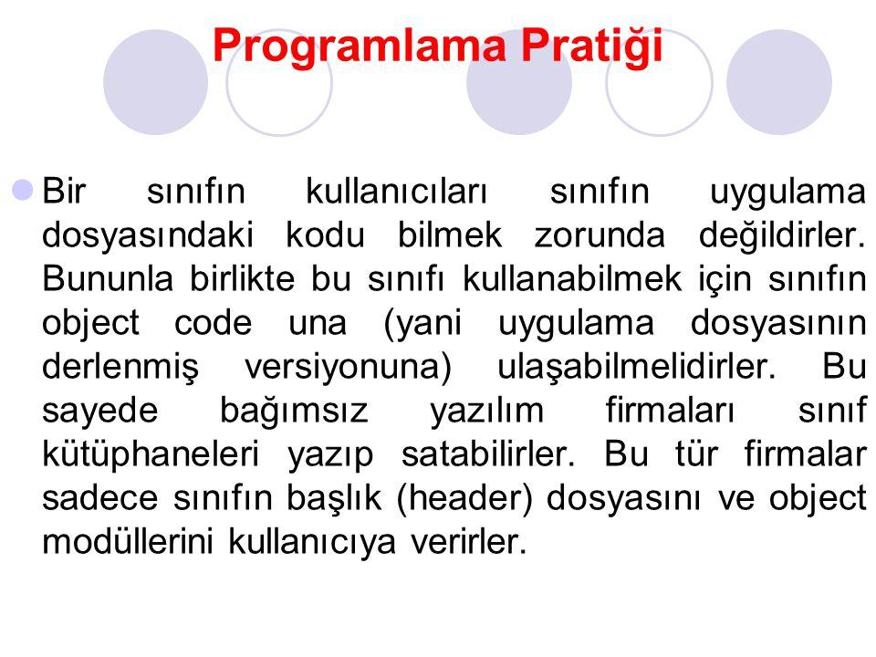 Programlama Pratiği