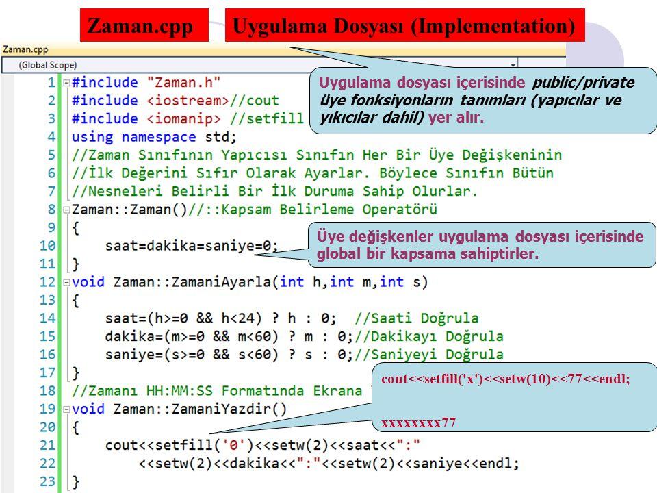 Uygulama Dosyası (Implementation)