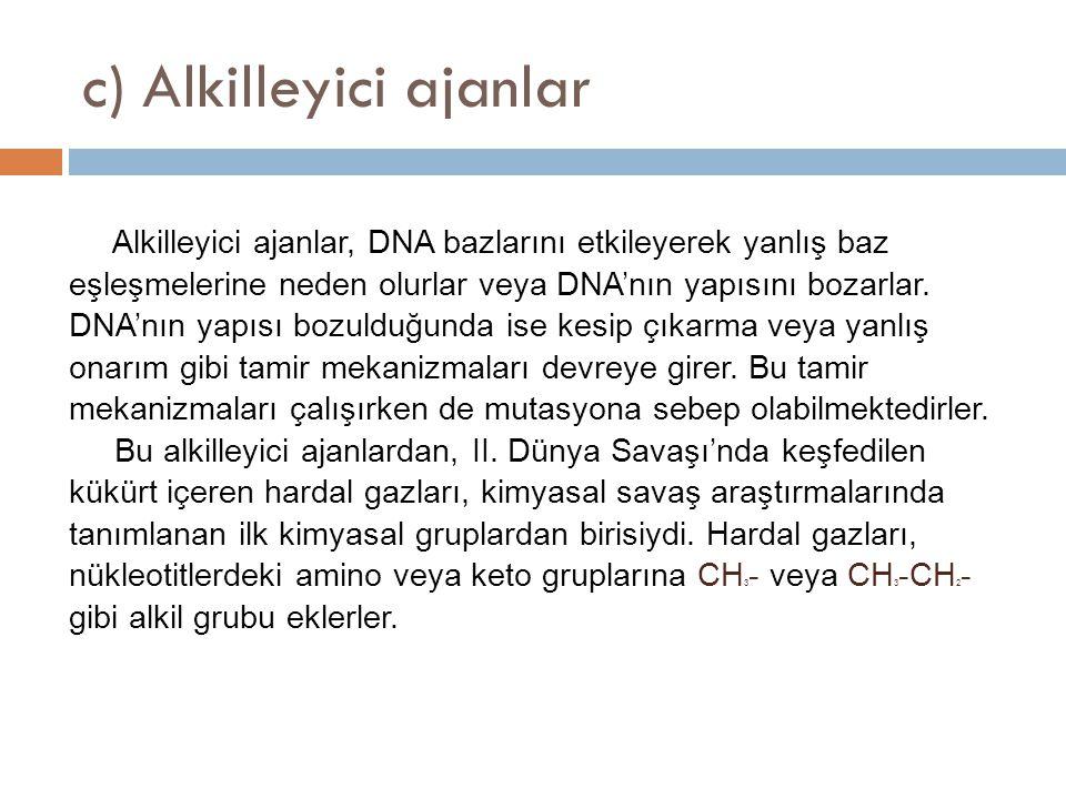 c) Alkilleyici ajanlar