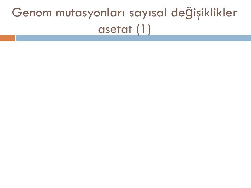 Genom mutasyonları sayısal değişiklikler asetat (1)