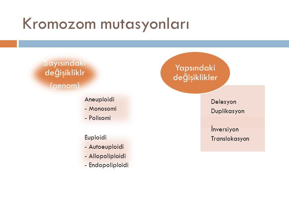 Kromozom mutasyonları
