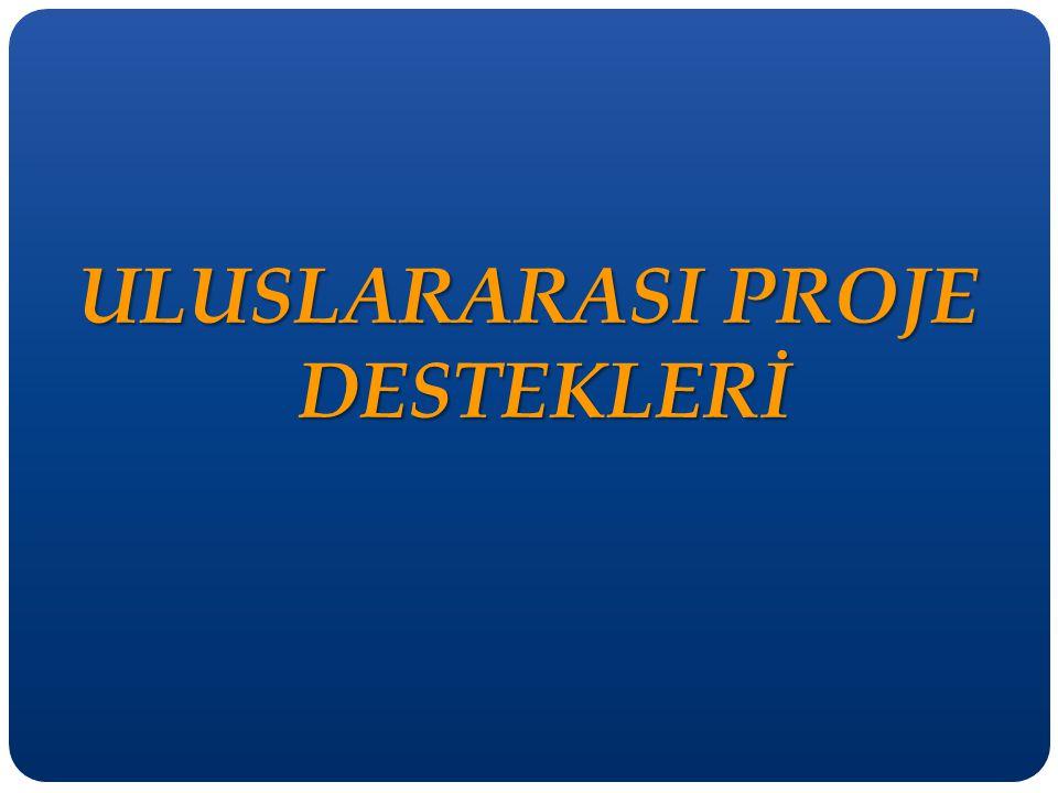 ULUSLARARASI PROJE DESTEKLERİ