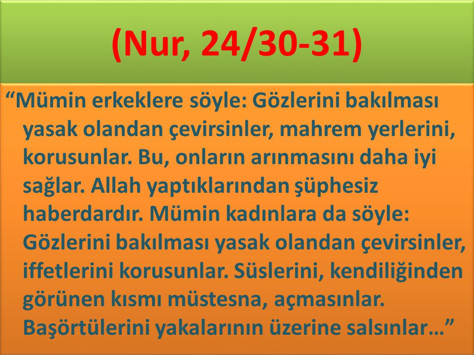 (Nur, 24/30-31)