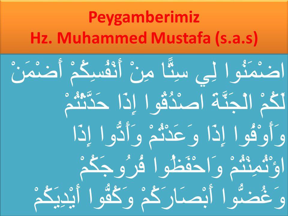 Peygamberimiz Hz. Muhammed Mustafa (s.a.s)