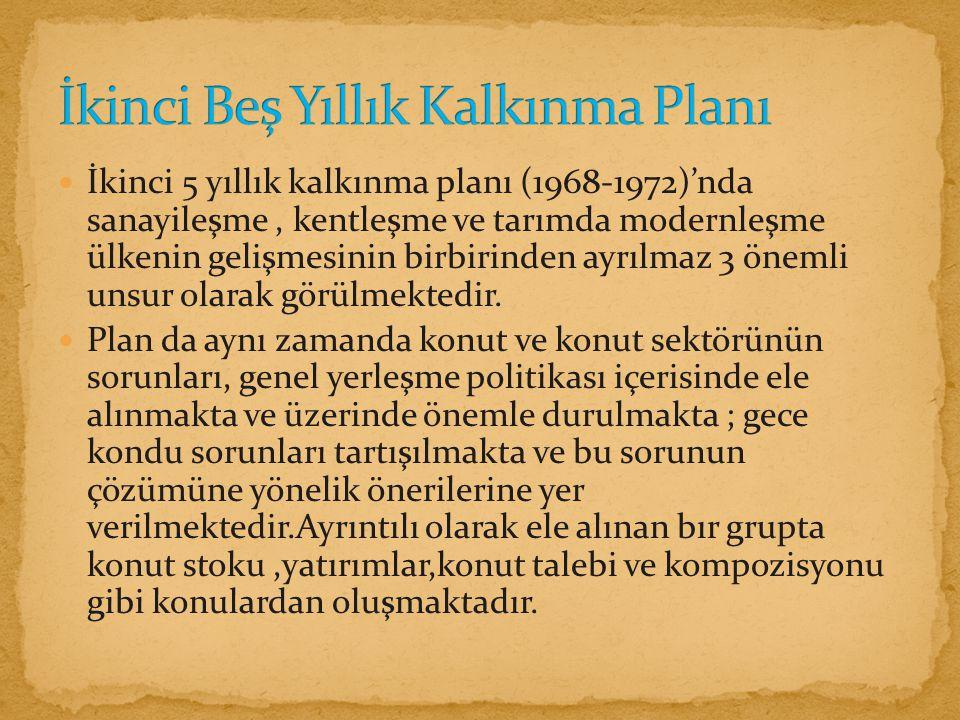 İkinci Beş Yıllık Kalkınma Planı