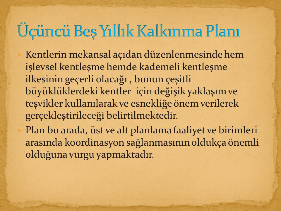 Üçüncü Beş Yıllık Kalkınma Planı