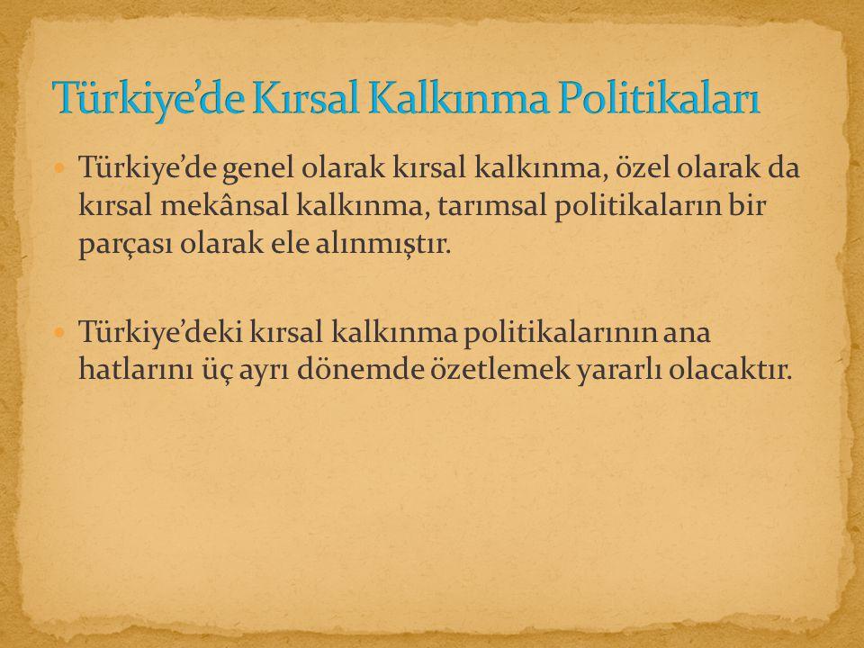 Türkiye'de Kırsal Kalkınma Politikaları