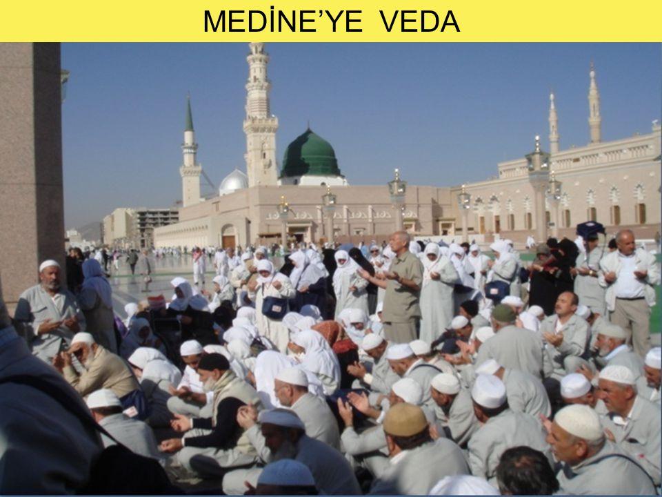 MEDİNE'YE VEDA