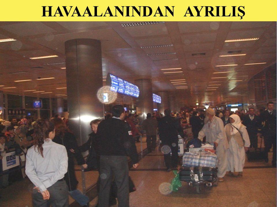 HAVAALANINDAN AYRILIŞ