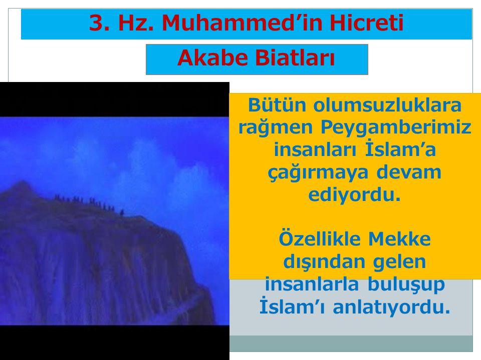 3. Hz. Muhammed'in Hicreti Akabe Biatları