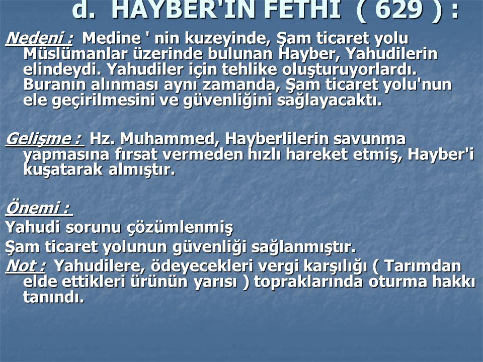 d. HAYBER İN FETHİ ( 629 ) :