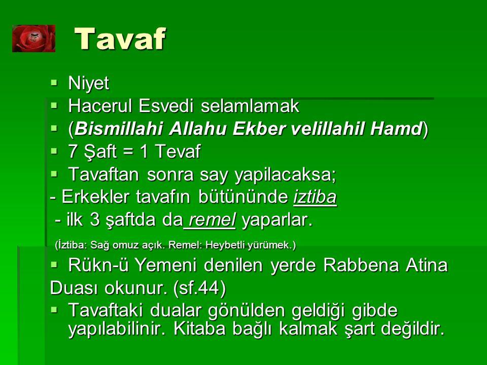 Tavaf Niyet Hacerul Esvedi selamlamak