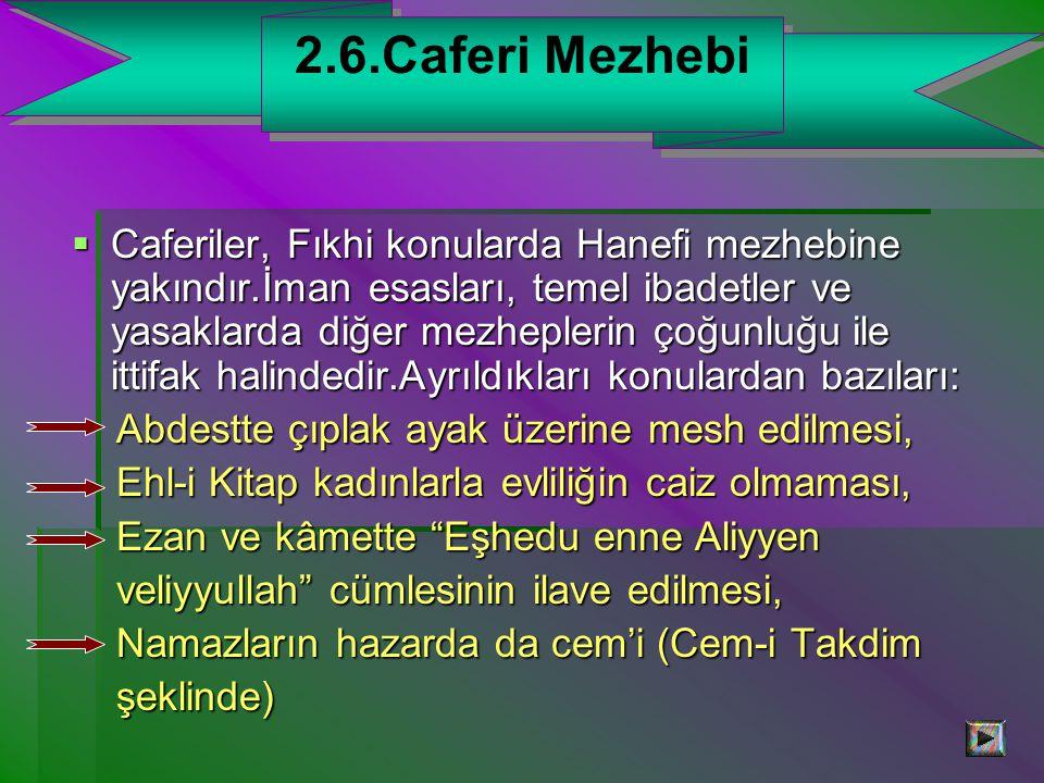 2.6.Caferi Mezhebi