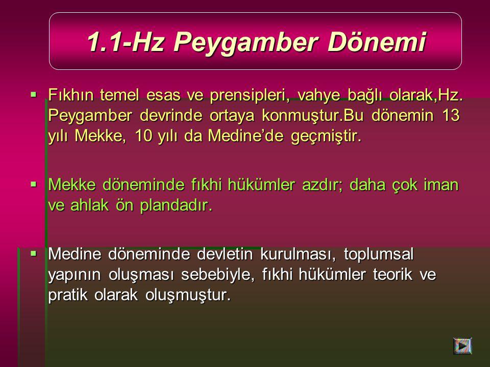 1.1-Hz Peygamber Dönemi