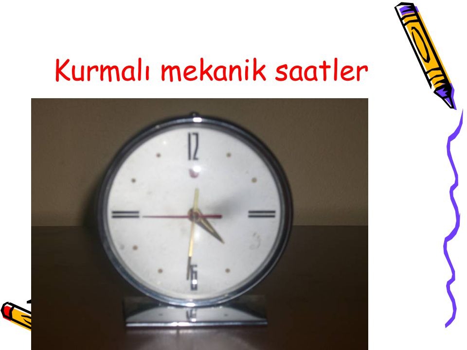 Kurmalı mekanik saatler