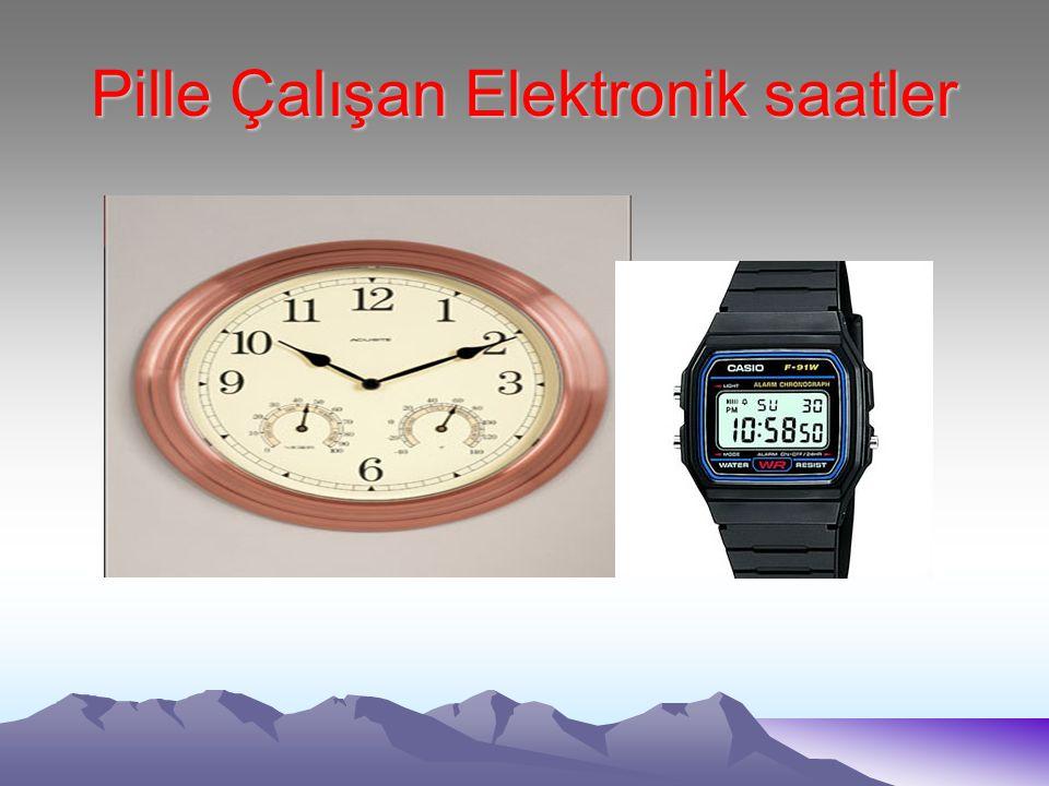 Pille Çalışan Elektronik saatler