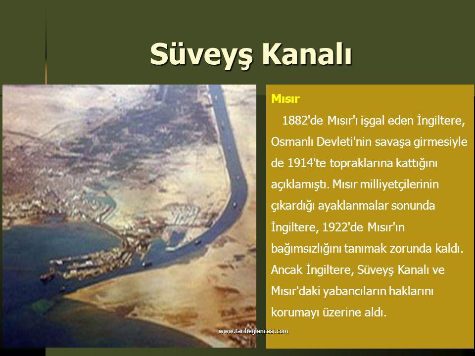 Süveyş Kanalı Mısır.