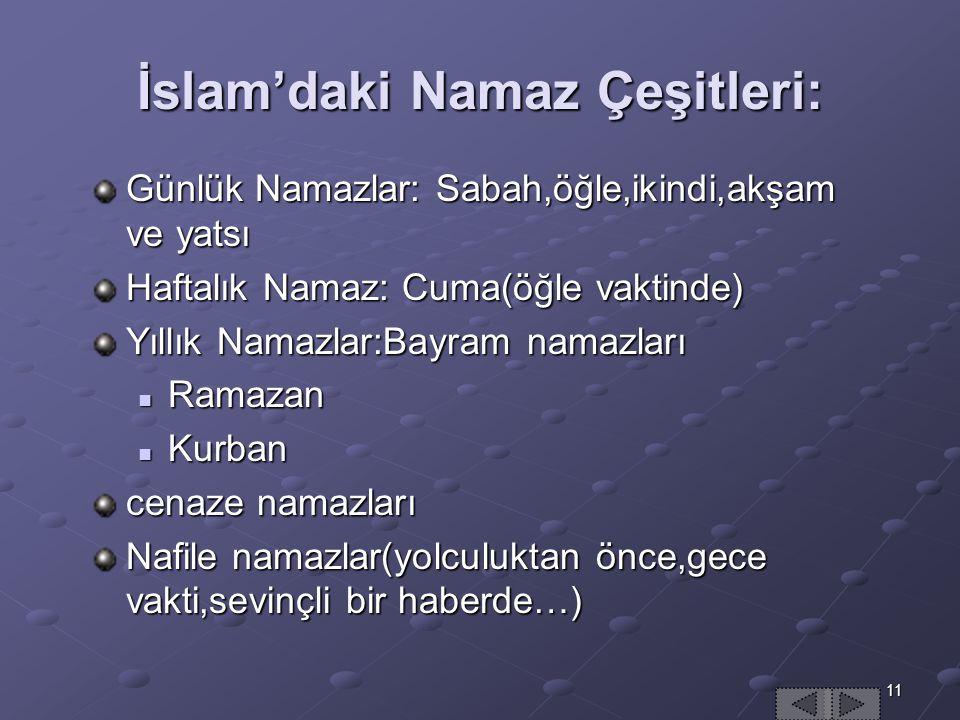 İslam'daki Namaz Çeşitleri: