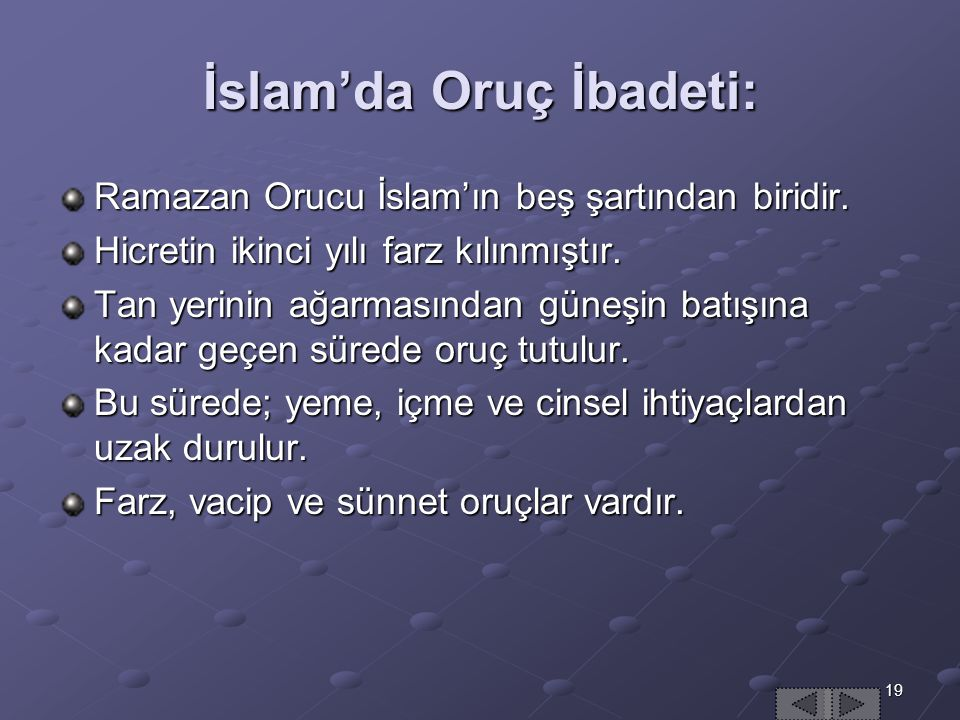İslam'da Oruç İbadeti: