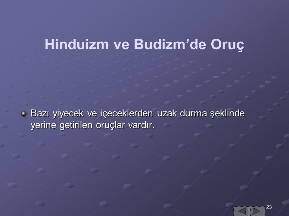 Hinduizm ve Budizm'de Oruç