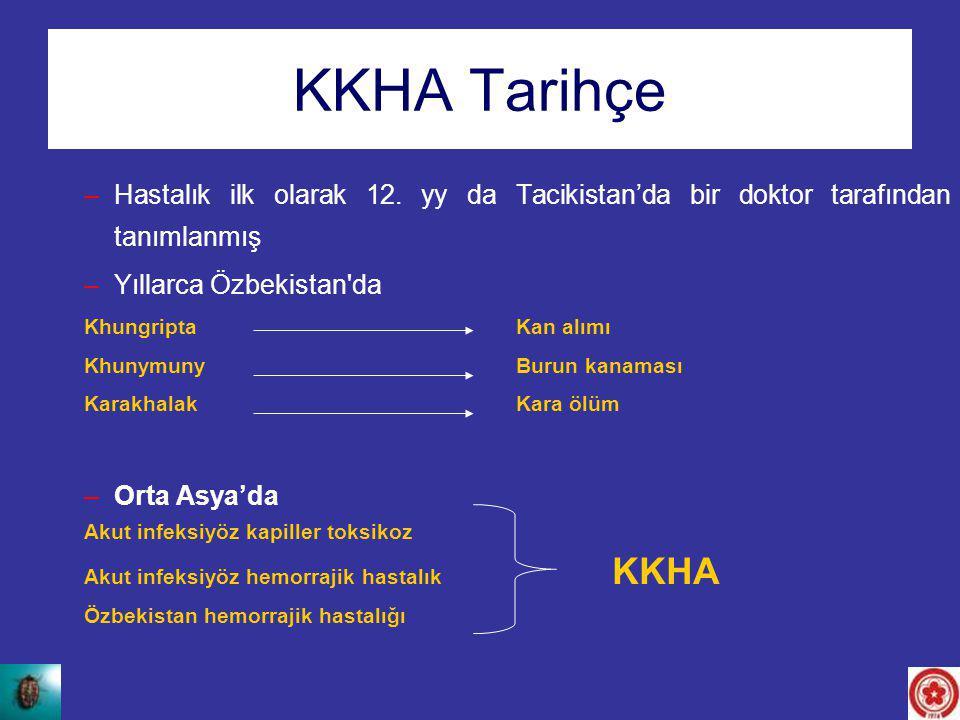 KKHA Tarihçe Hastalık ilk olarak 12. yy da Tacikistan'da bir doktor tarafından tanımlanmış. Yıllarca Özbekistan da.