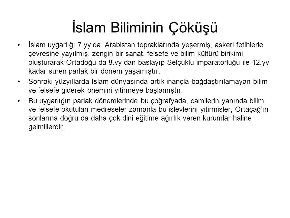 İslam Biliminin Çöküşü