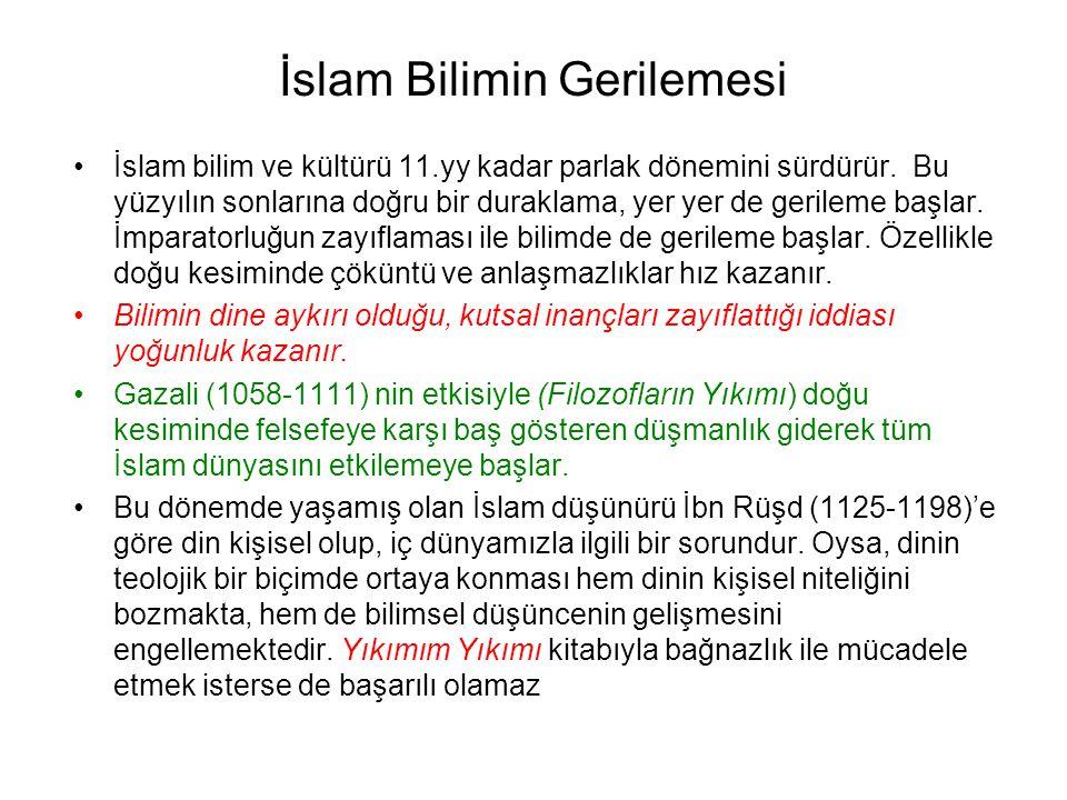 İslam Bilimin Gerilemesi