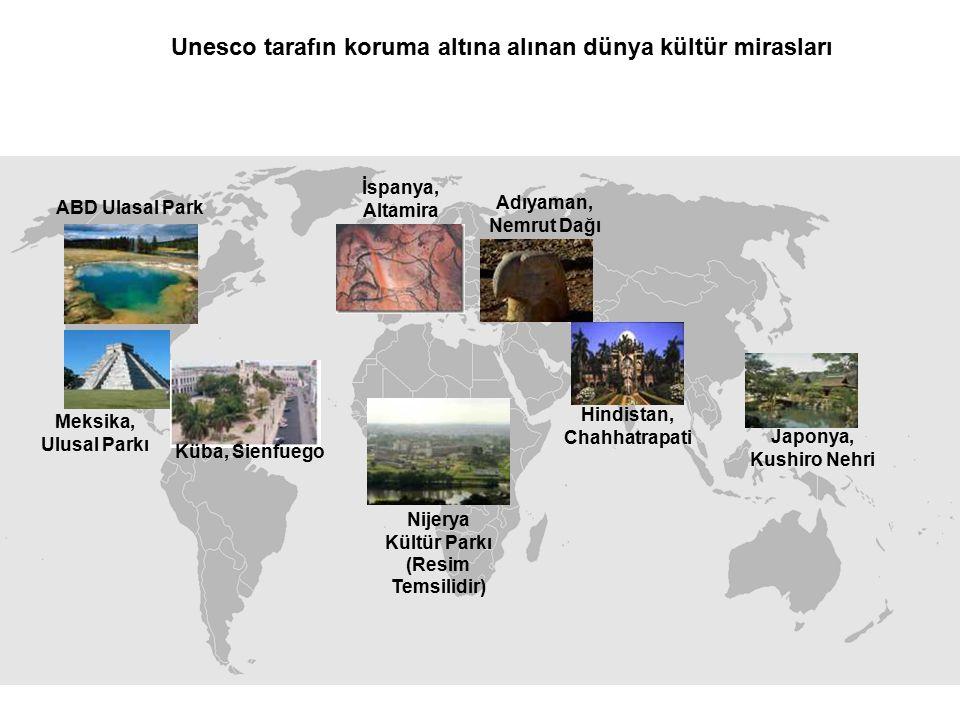 Unesco tarafın koruma altına alınan dünya kültür mirasları