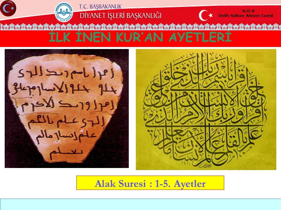İLK İNEN KUR'AN AYETLERİ