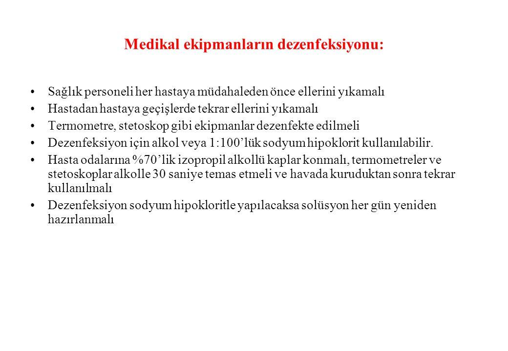 Medikal ekipmanların dezenfeksiyonu: