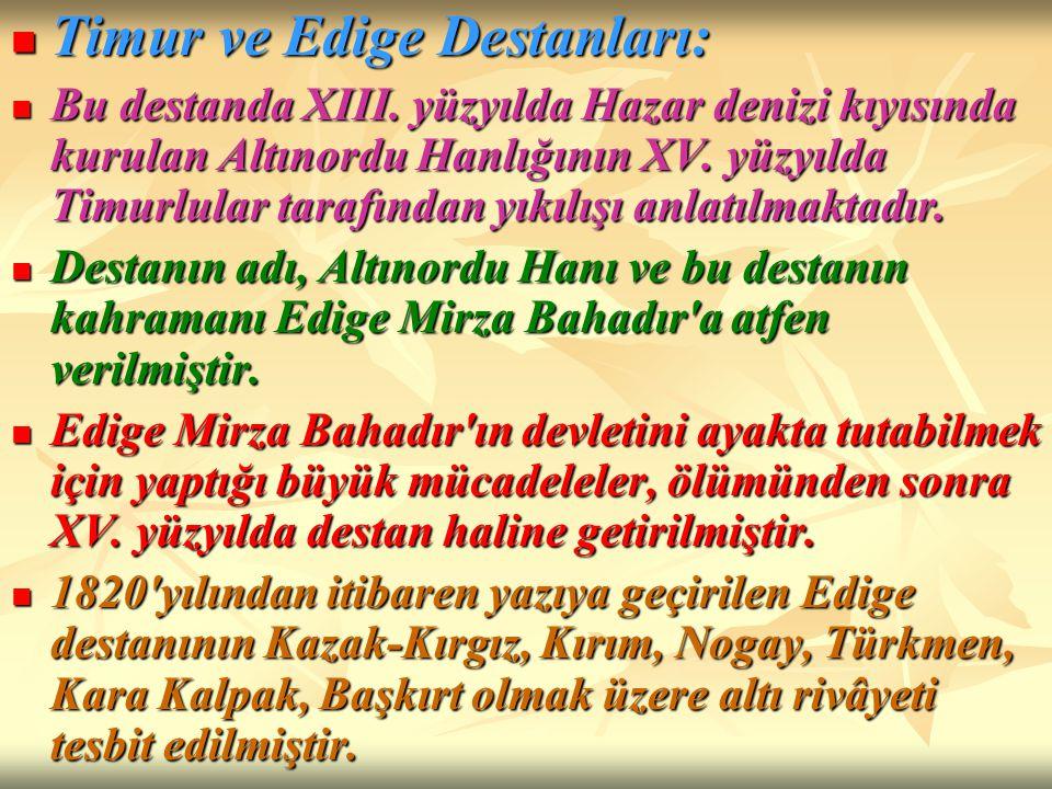 Timur ve Edige Destanları: