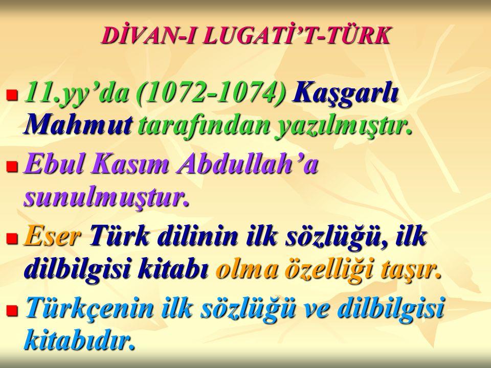 DİVAN-I LUGATİ'T-TÜRK