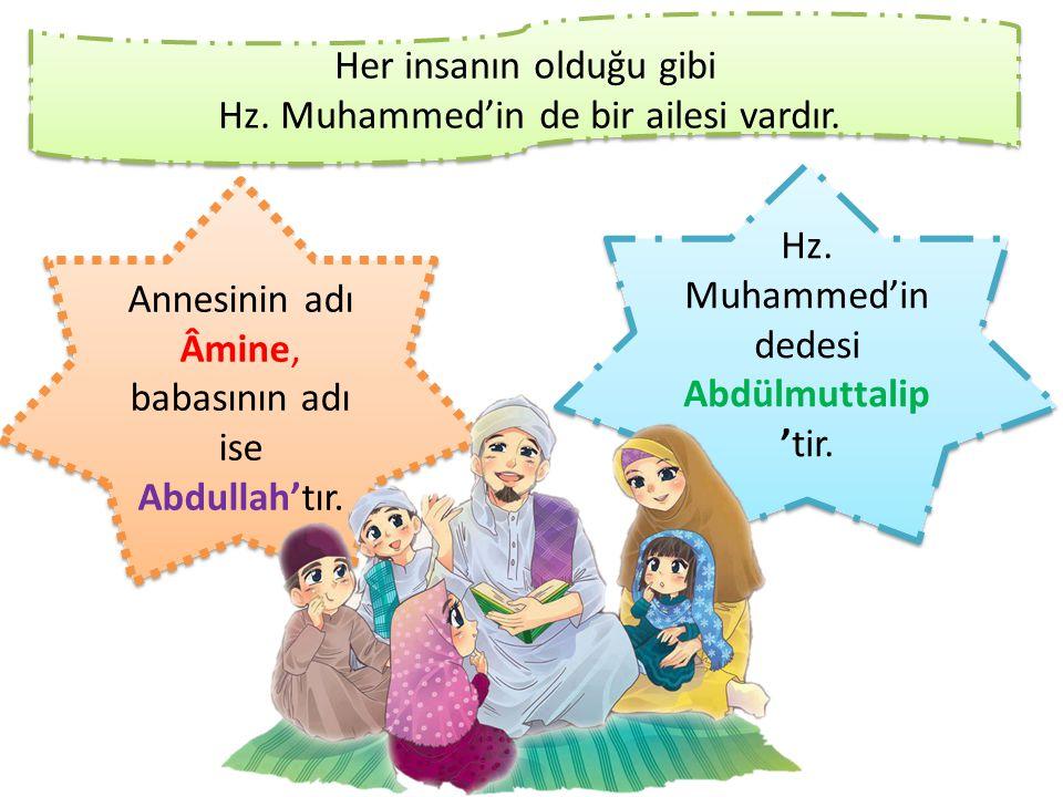 Her insanın olduğu gibi Hz. Muhammed'in de bir ailesi vardır.