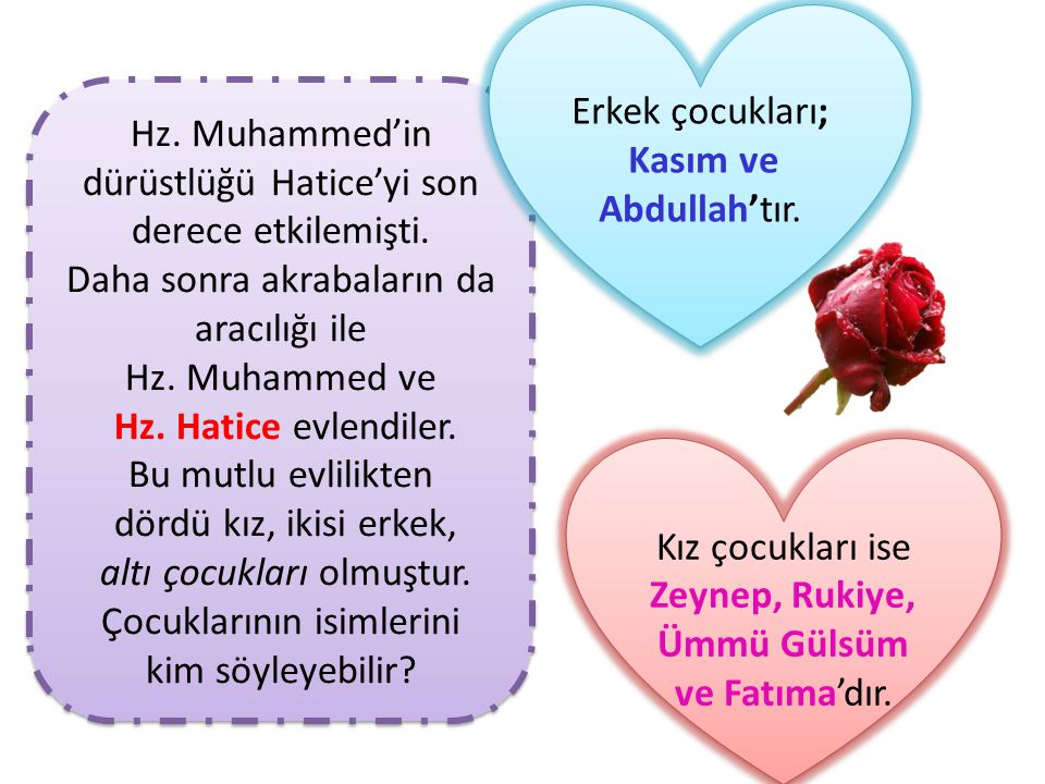 Hz. Muhammed'in dürüstlüğü Hatice'yi son derece etkilemişti.