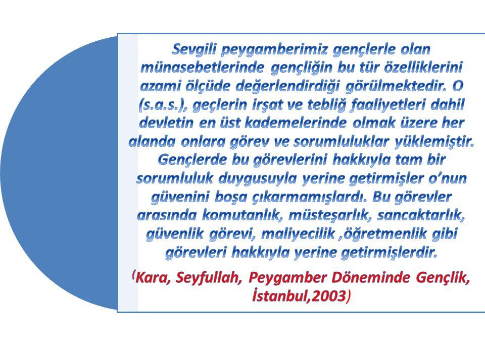 (Kara, Seyfullah, Peygamber Döneminde Gençlik, İstanbul,2003)