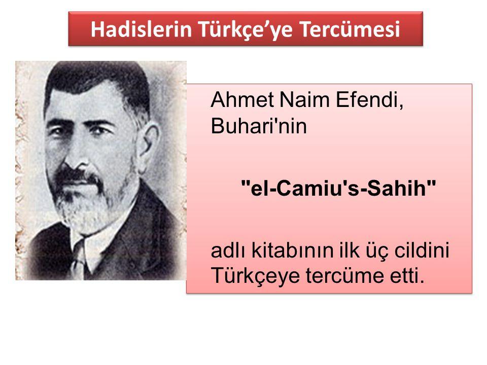 Hadislerin Türkçe'ye Tercümesi