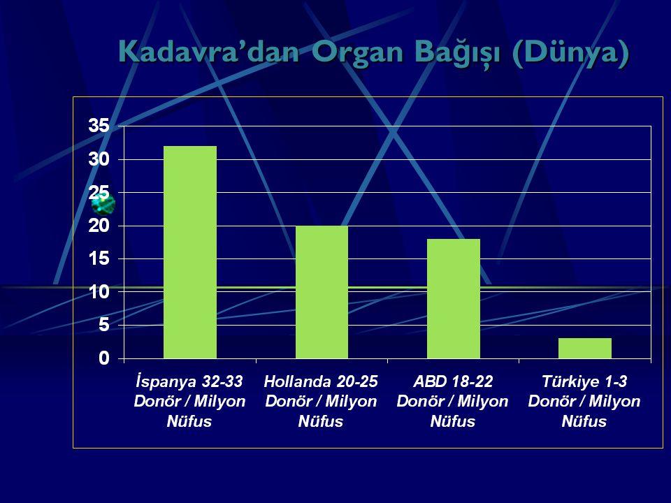 Kadavra'dan Organ Bağışı (Dünya)