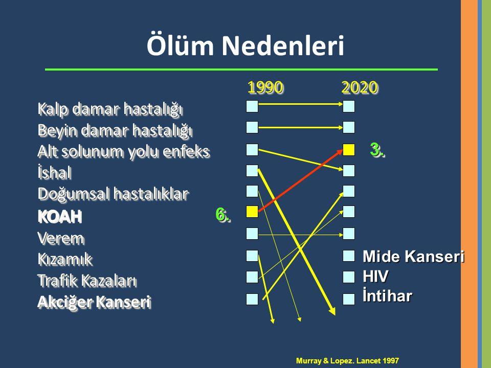 Ölüm Nedenleri KOAH 1990 2020 Kalp damar hastalığı