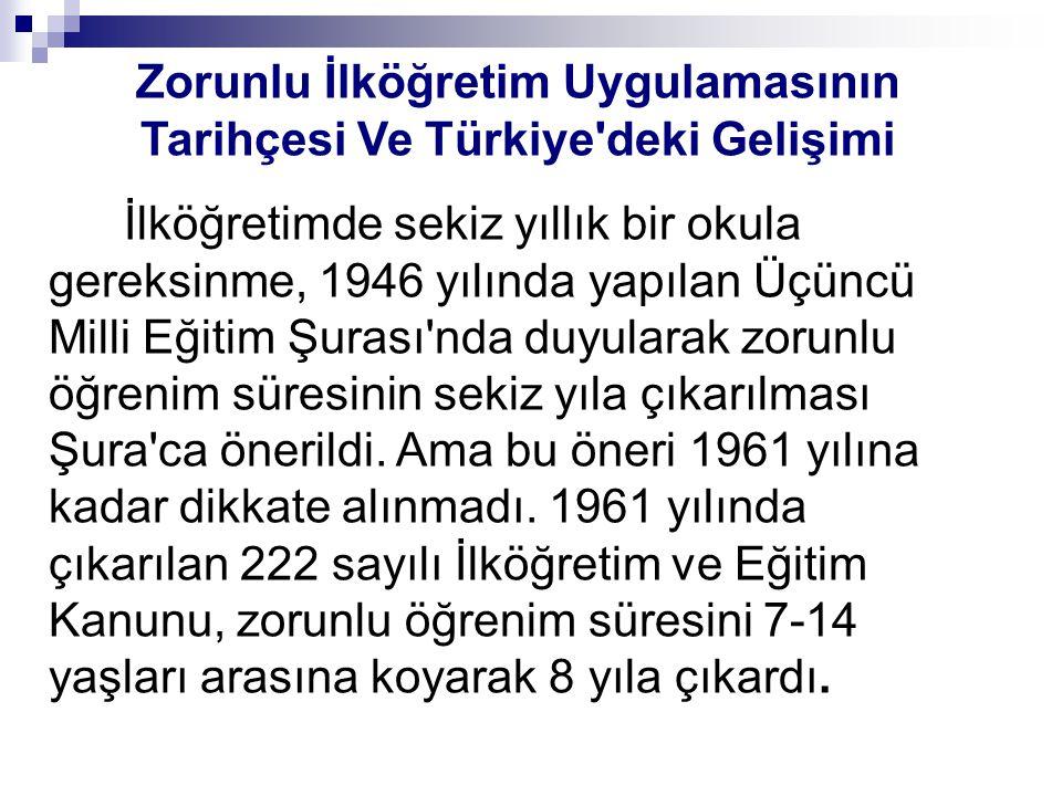 Zorunlu İlköğretim Uygulamasının Tarihçesi Ve Türkiye deki Gelişimi